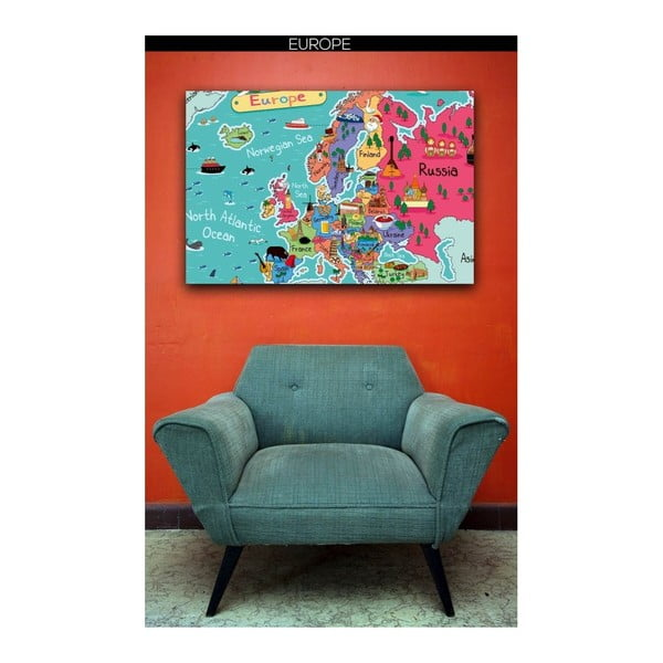 Obraz Homemania Maps Europe Pictures, 70x100cm