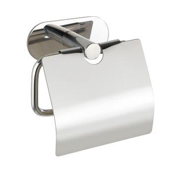 Suport oțel inoxidabil pentru hârtie igienică fără sistem de prindere cu șurub Wenko Turbo-Loc® Orea Shine Cover imagine