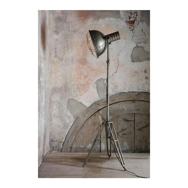 Šedá stojací lampa De Eekhoorn Spotlight