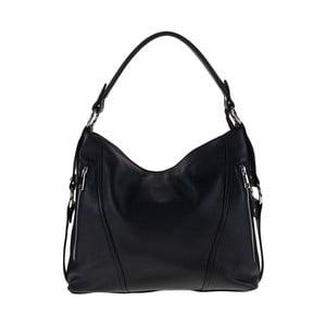 Černá kožená kabelka Pitti Bags Ginger