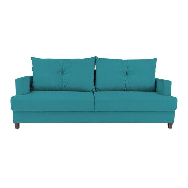 Lorenzo türkiz háromszemélyes kinyitható kanapé - Melart