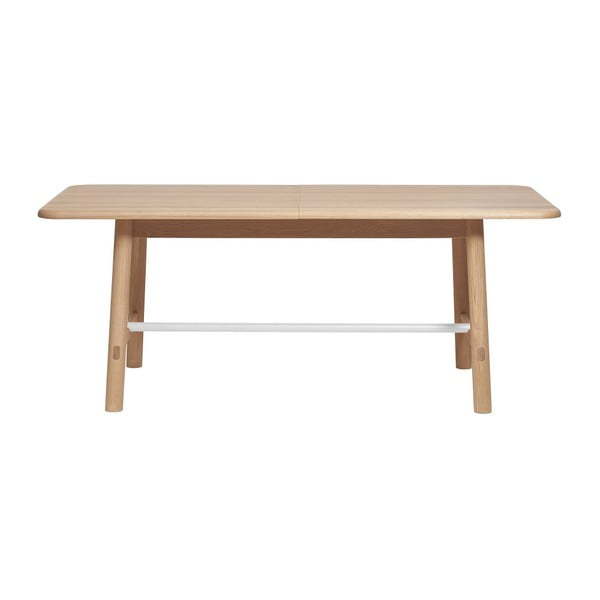 Rozkládací stůl z dubového dřeva s bílou příčkou HARTÔ Helene, šířka240cm