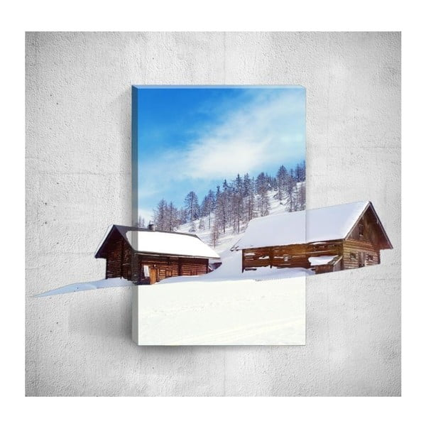 Nástěnný 3D obraz Mosticx Winter Huts, 40 x 60 cm