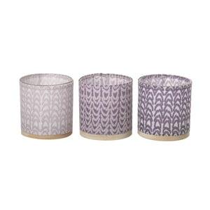 Sada 3 svícnů Weave Purple