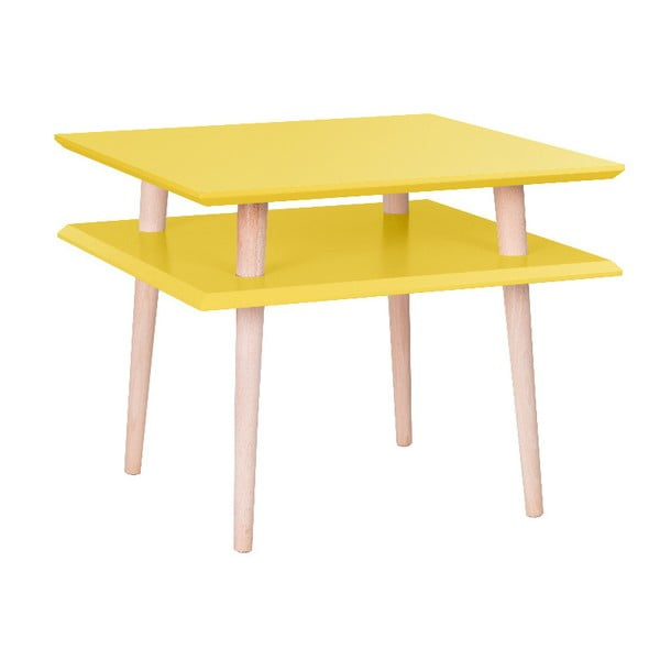 Square sárga dohányzóasztal, 55 x 55 cm - Ragaba