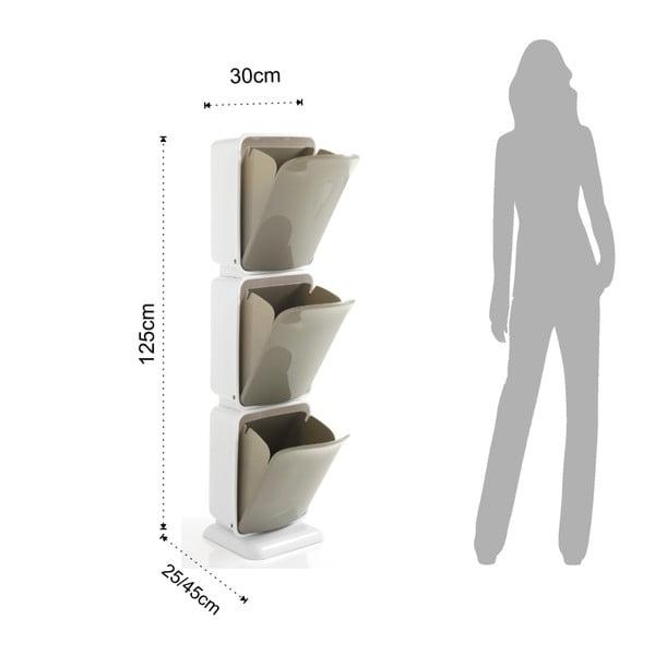 Recyklační koš s 3 přihrádkami Tomasucci Riky, výška 125cm