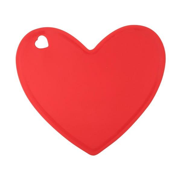 Červené silikonové prkénko ve tvaru srdce Tantitoni Lovely