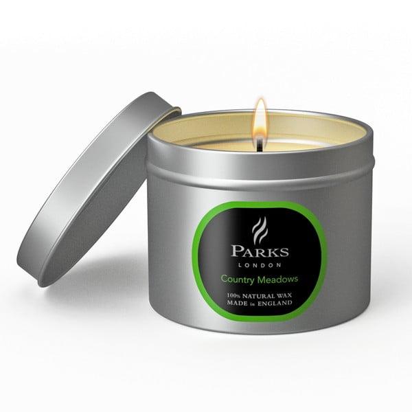 Sviečka Parks London, 25 hodín horenia, vôňa lúky