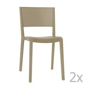 Sada 2 béžových zahradních židlí Resol Spot