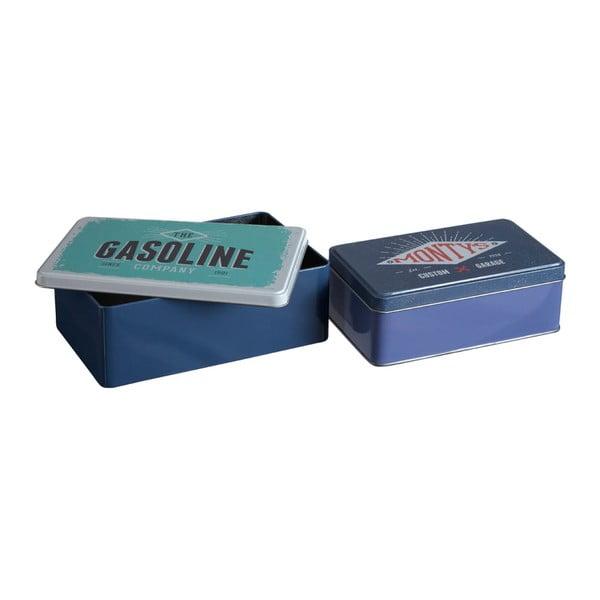 Set 2 cutii depozitare din tablă Premier Housewares Hot Rod, 13 x 20 cm