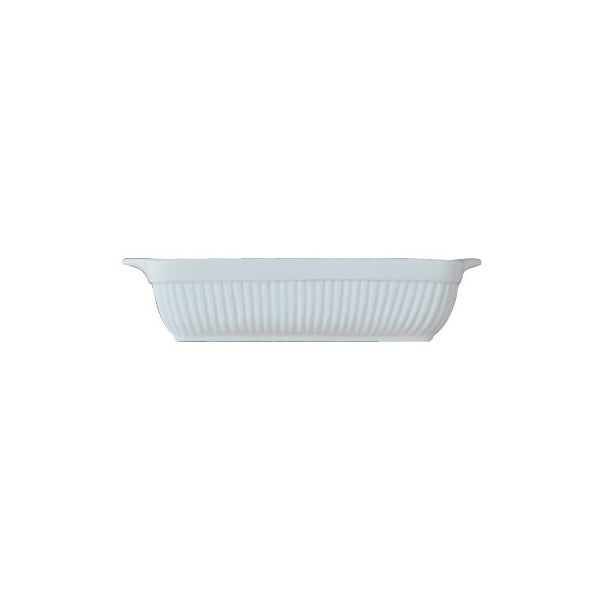 Bílá kameninová zapékací mísa BergHOFF Bianco, 25 x 21 cm