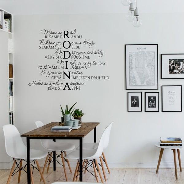 Samolepka na zeď Rodinka, 70x50 cm