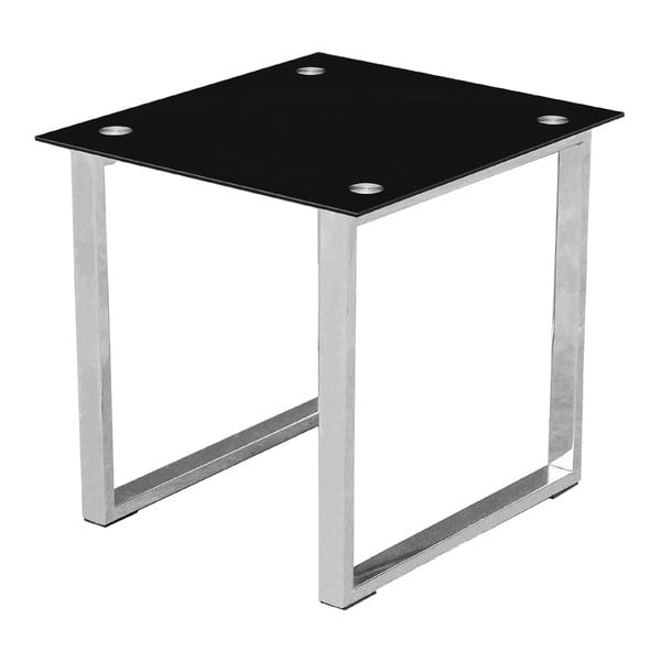 Stolek End Table Black Glass