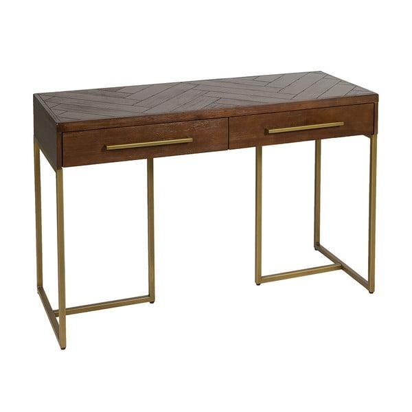 Konzolový stolek z dýhy akáciového dřeva Santiago Pons Bruno