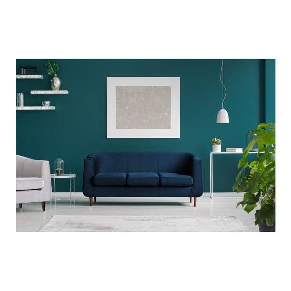 Tmavě modrá třímístná pohovka Kooko Home Glam