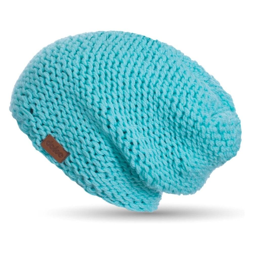 Tyrkysově modrá ručně pletená čepice DOKE Mina  6773555459