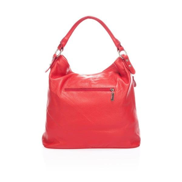 Kožená kabelka Markese 5138, červená