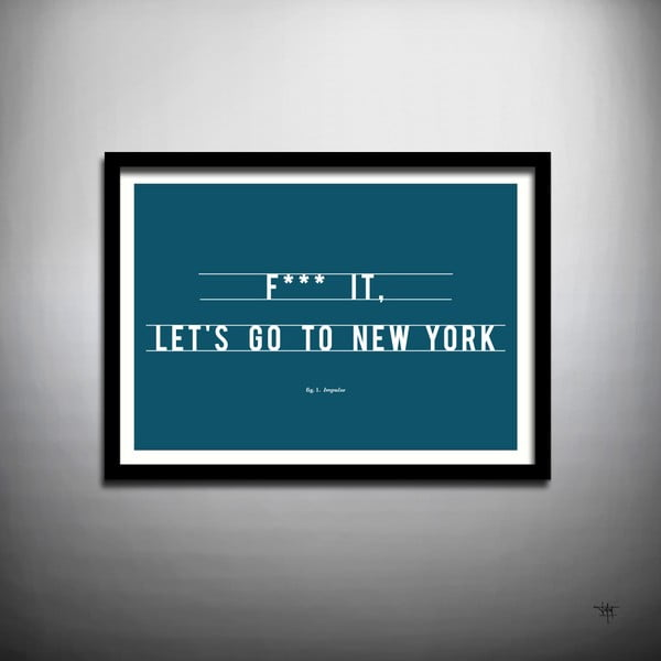 Plakát Let's Go to New York