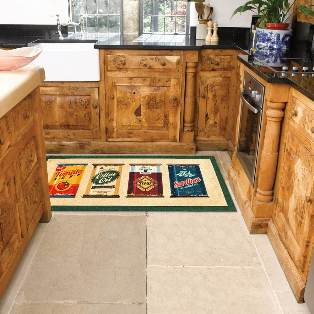 Vysoce odolný kuchyňský koberec Webtappeti Olive Oil & Co., 60 x 240 cm