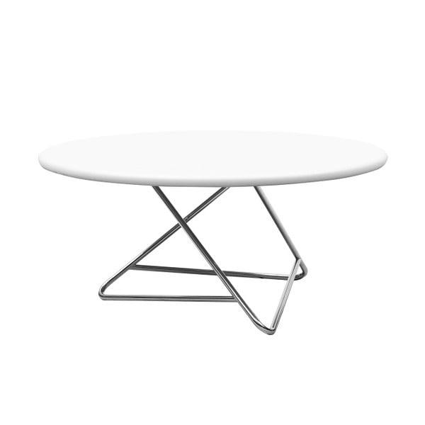 Stůl s bílou deskou Softline Tribeca, 75cm