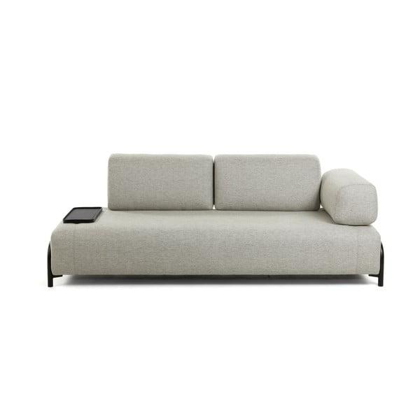 Canapea cu 3 locuri și spațiu mic pentru depozitare La Forma Compo, bej