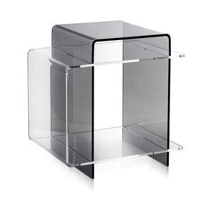 Odkládací stolek 70's Transparent&Fume