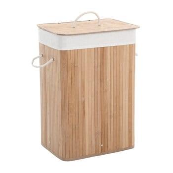 Coș de rufe din bambus și căptușeală de bumbac Songmics imagine