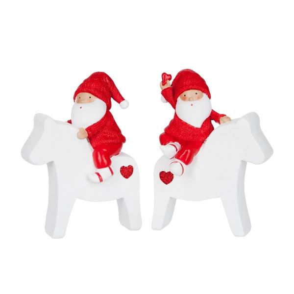 Set 2 dekorací Santa Horse M
