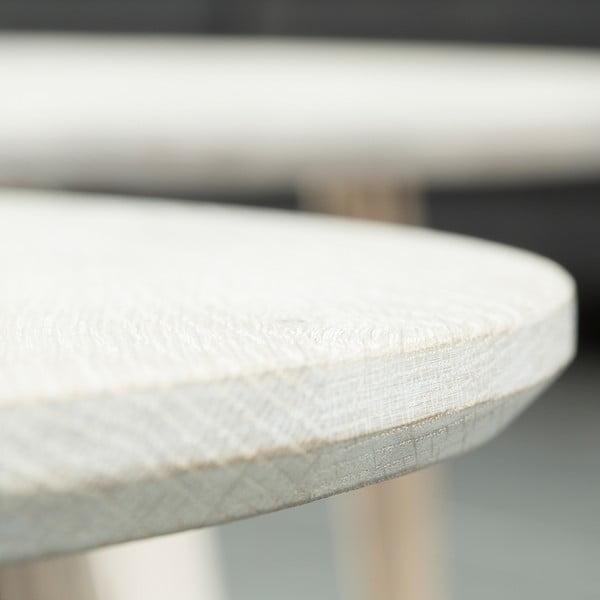 Bílý konferenční stolek Canett Exact, bílý