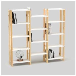 Knihovna Only Wood Brige Bookshelf s bílými policemi