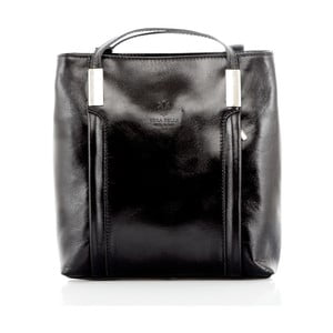 Černá kožená kabelka / batoh Glorious Black Zara
