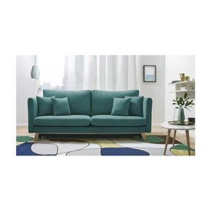 Canapea extensibilă cu 3 locuri Bobochic Triplo, albastru