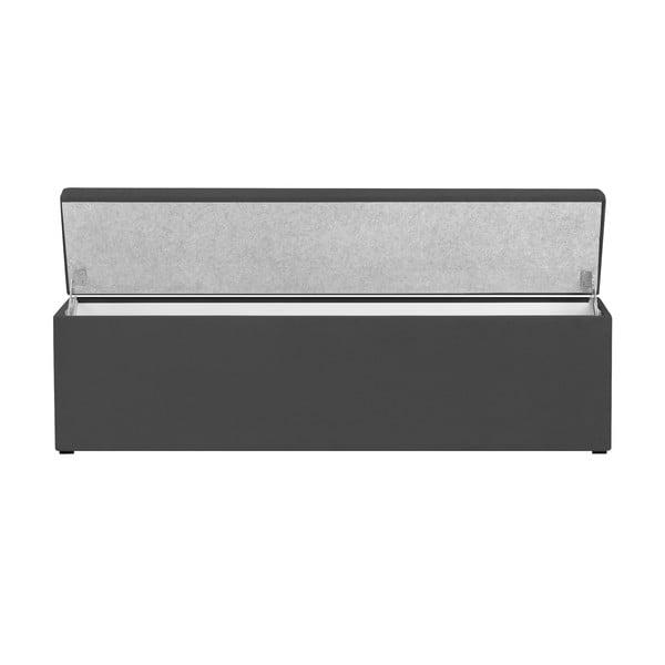 Tmavě šedý otoman s úložným prostorem Cosmopolitan Design LA, 180x47cm