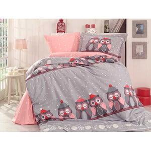 Lenjerie de pat cu cearșaf Linda, 160 x 220 cm