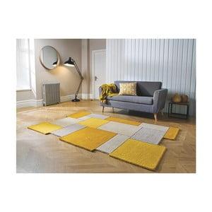 Oranžový koberec z vlny Flair Rugs Collage Ochre, 120 x 180 cm