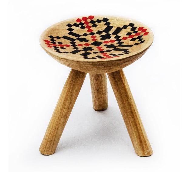 Ručně malovaná stolička Iara, 28 cm