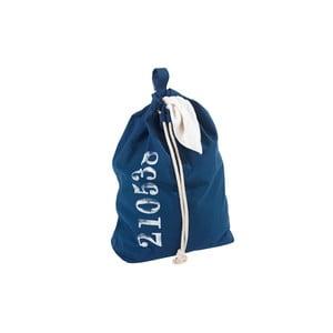 Coș pentru rufe cu șnur de agățat Wenko Sailor, albastru
