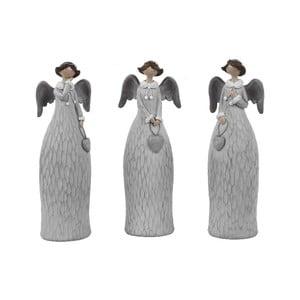 Sada 3 dekorativních andělů Ego Dekor Dalia, výška15cm