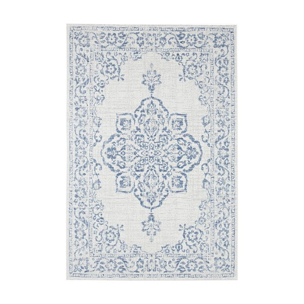 Modro-krémový venkovní koberec Bougari Tilos, 200 x 290 cm