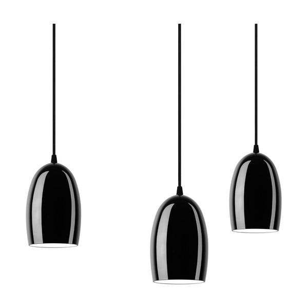 Černé trojité stropní svítidlo Sotto Luce UME Elementary 3S Glossy