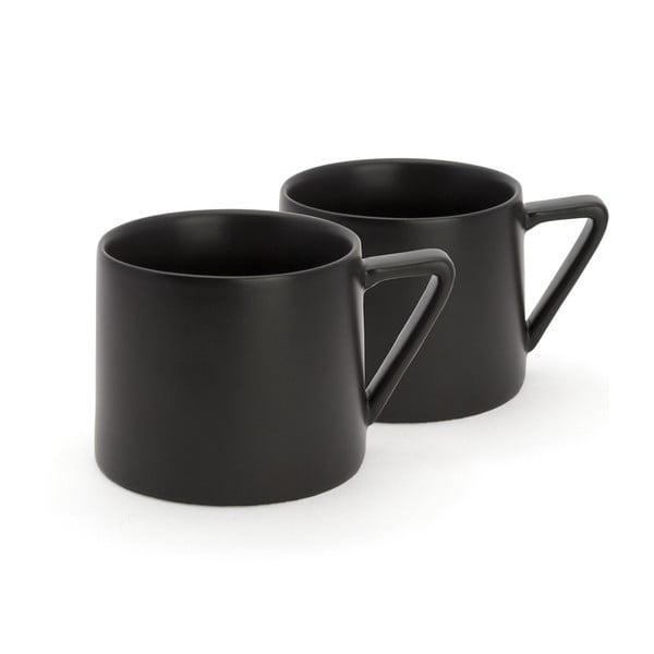 Sada 2 černých keramických hrnků Bredemeijer Lund, 300ml