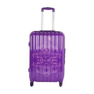 Fialový cestovní kufr LULU CASTAGNETTE Francesca, 71l