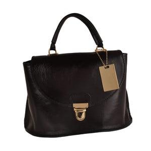 Lesklá černá kožená kabelka Matilde Costa Olivos
