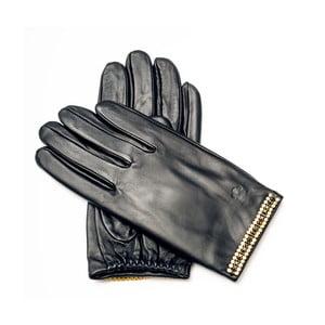 Dámské černé kožené rukavice <br>Pride & Dignity Sydney, vel. 8