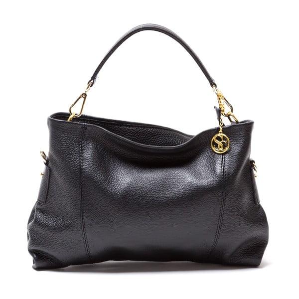 Kožená kabelka Sofia Cardoni Caprice, černá