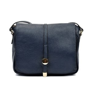 Tmavě modrá kožená kabelka Renata Corsi Rozzno