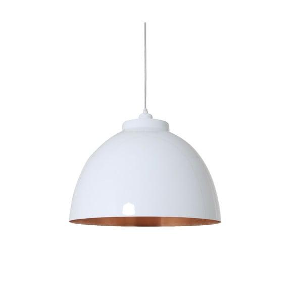 Závěsné světlo Kylie White Copper, 45 cm