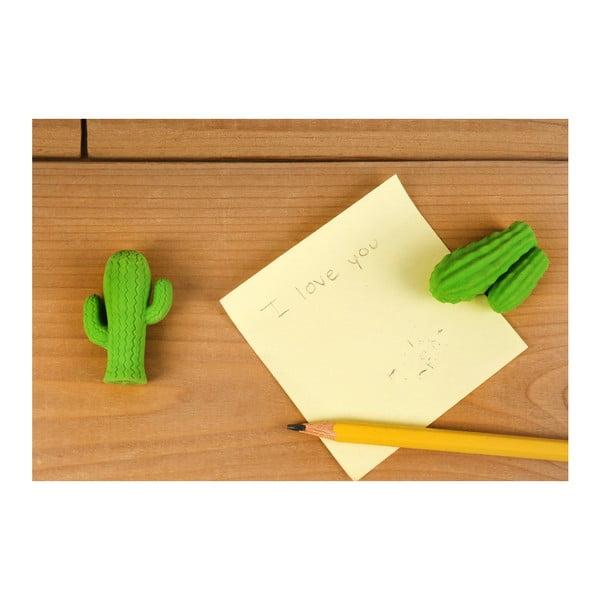 Set 2 gume de șters Kikkerland Cactus, verde