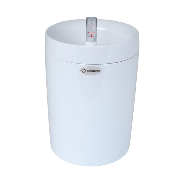 Ghiveci cu sistem de auto-irigare Plastia Calimera B2, ø 17 cm, alb