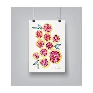 Poster Americanflat Grapefruit Slices, 30 x 42 cm